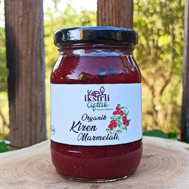 Organik Kiren (Kızılcık) Marmelatı (Organik Elma Suyu Konsantreli) 190 gr