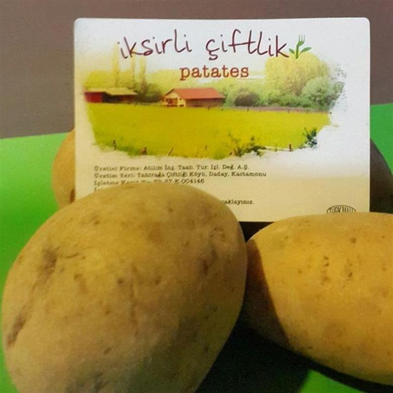Bahçemizden Orta boy Sarı Patates 1000 gr