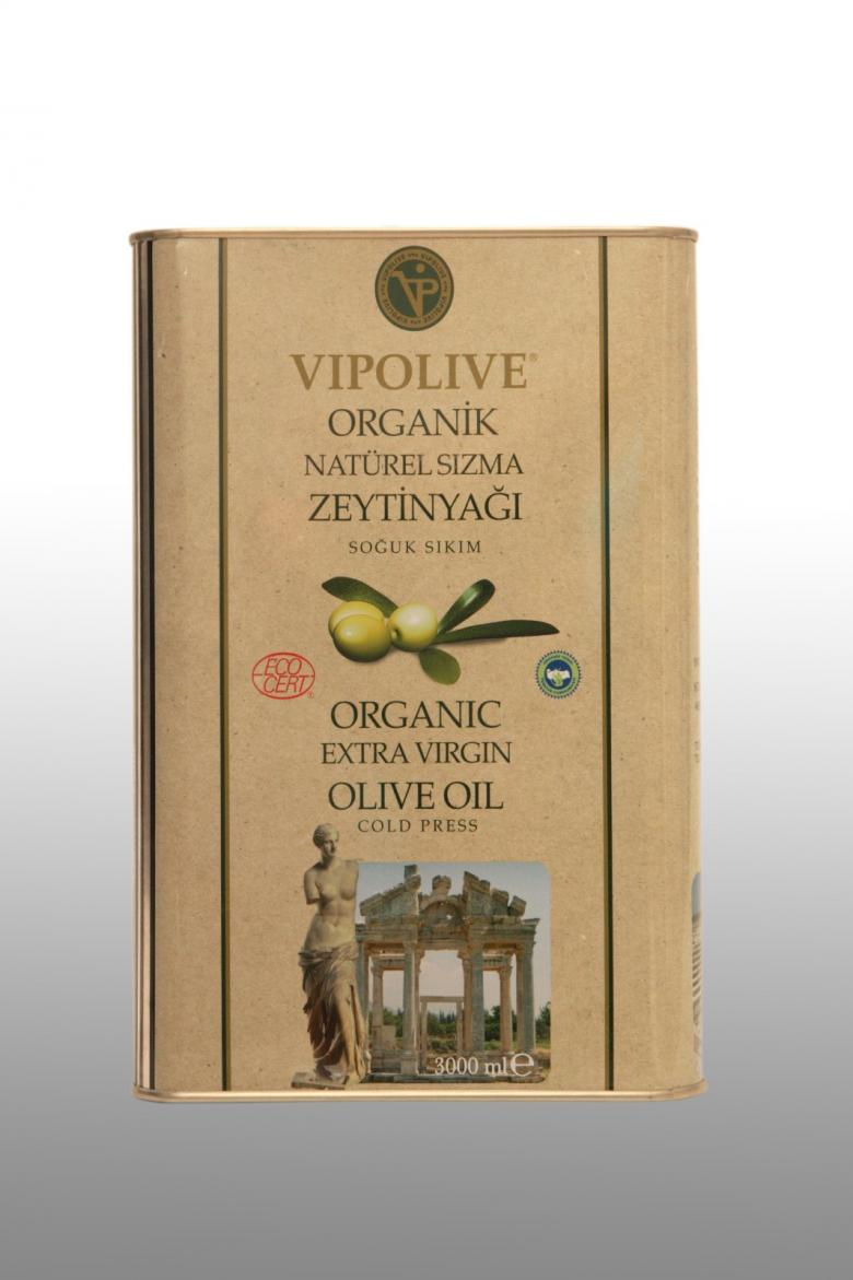 VIP OLIVE Organik Natürel Zeytinyağı 3 Lt